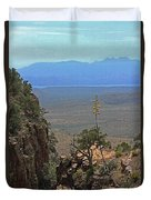 The Edge Of Parker Canyon Duvet Cover