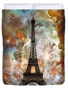 The Eiffel Tower - Paris France Art By Sharon Cummings Duvet Cover by Sharon Cummings