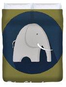 The Elephant Cute Portrait Duvet Cover