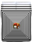 The Elephant In The Room Duvet Cover