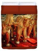 The Elephant Shrine Duvet Cover