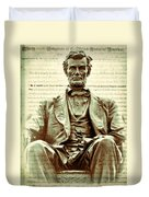 The  Emancipation Proclamation And Abraham Lincoln Duvet Cover