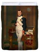 The Emperor Napoleon In His Study 1812 Duvet Cover