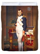 The Emperor Napoleon In His Study At The Tuileries By Jacques Louis David Duvet Cover