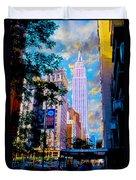 The Empire State Building Duvet Cover by Jon Neidert