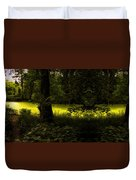 The End Of The Path Mirror Image Duvet Cover