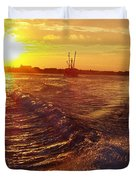 The End To A Fishing Day Duvet Cover