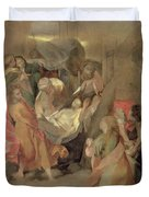 The Entombment Of Christ Duvet Cover by Barocci