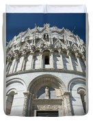 The Entrance To The Baptistery In Pisa  Duvet Cover