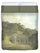 The Entrance To The Elephanta Cave Duvet Cover