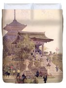 The Entrance To The Temple Of Kiyomizu Dera Kyoto Duvet Cover