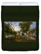 The Entry Of The Animals Into Noahs Ark Duvet Cover
