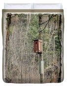 Birdhouse Environment Of Hamilton Marsh  Duvet Cover
