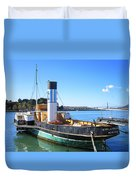 The Eppleton Hall Paddlewheel Tugboat - 1914 Duvet Cover by Daniel Hagerman