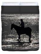 The Equestrian-silhouette Duvet Cover