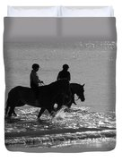 The Equestrians-silhouette V2 Duvet Cover
