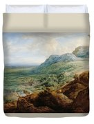 The Escorial, From A Foothill Duvet Cover