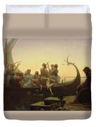 The Evening Duvet Cover by Charles Gleyre