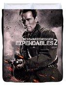 The Expendables 2 Schwarzenegger Duvet Cover