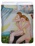 The Expulsion Hand Embroidery Duvet Cover