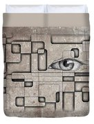 The Eye Of Big Brother Duvet Cover by John Malone