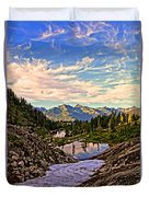 The Eyes Of The Mountain. Duvet Cover