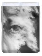 The Face In The Clouds Duvet Cover