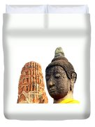 The Face Of A Buddha Duvet Cover