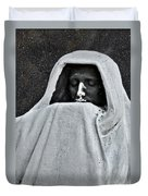 The Face Of Death - Graceland Cemetery Chicago Duvet Cover