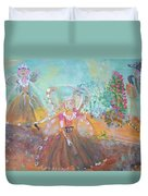 The Fairies And The Artist Duvet Cover
