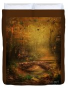 The Fairy Forest In The Fall Duvet Cover