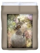The Fairy Of Winter Lights Duvet Cover