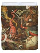 The Fall Of The Rebel Angels, 1562 Oil On Panel Detail Of 74037 Duvet Cover