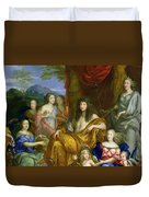 The Family Of Louis Xiv 1638-1715 1670 Oil On Canvas Detail Of 60094 Duvet Cover