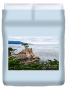 The Famous Lone Cypress Tree At Pebble Beach In Monterey California Duvet Cover