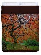 The Famous Tree At Portland Japanese Garden Duvet Cover