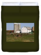 The Farm In Autumn Duvet Cover