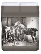 The Farrier, From Etudes De Cheveaux Duvet Cover