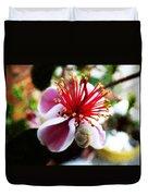 the Feijoa Blossom Duvet Cover