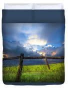 The Fence At Cades Cove Duvet Cover