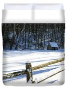 The Fence Line Duvet Cover