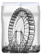 The Ferris Wheel At The Worlds Columbian Exposition Of 1893 In Chicago Bw Photo Duvet Cover