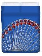 The Ferris Wheel Chicago Duvet Cover by Christine Till