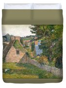 The Field Of Derout-lollichon Duvet Cover