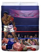 The Fight Of The Century - June 28 1971 C-vs-us Duvet Cover