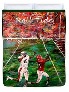The Final Yard Roll Tide  Duvet Cover