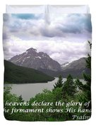 The Firmament  Psalm 19 1  Duvet Cover