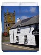 The First And Last Inn In England Duvet Cover by Terri Waters