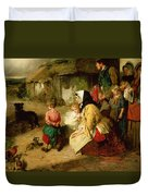 The First Break In The Family Duvet Cover by Thomas Faed