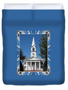The First Church Of Evans In New York State Duvet Cover